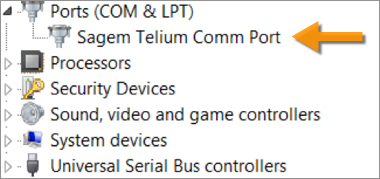 SAGEM TELIUM WINDOWS XP DRIVER